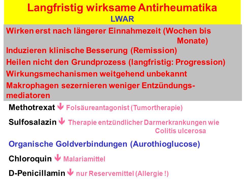 Langfristig wirksame Antirheumatika