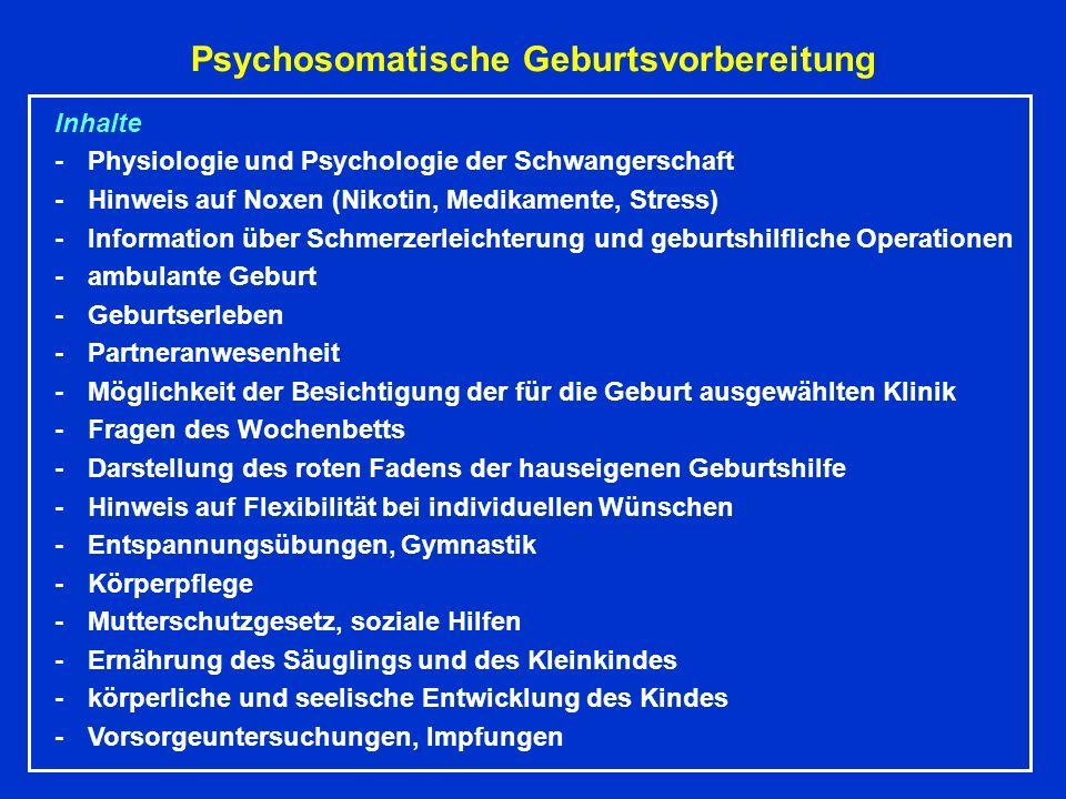 Psychosomatische Geburtsvorbereitung