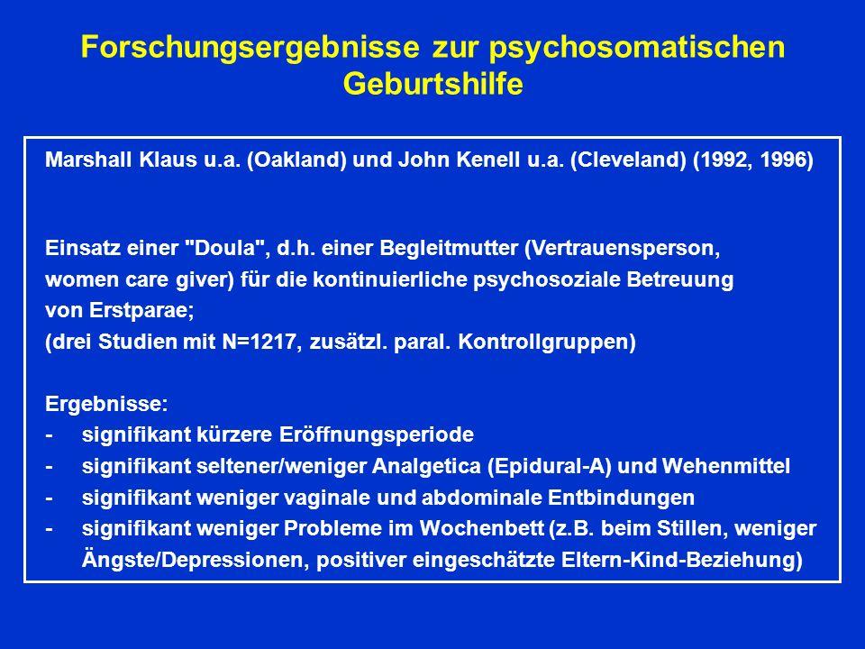 Forschungsergebnisse zur psychosomatischen