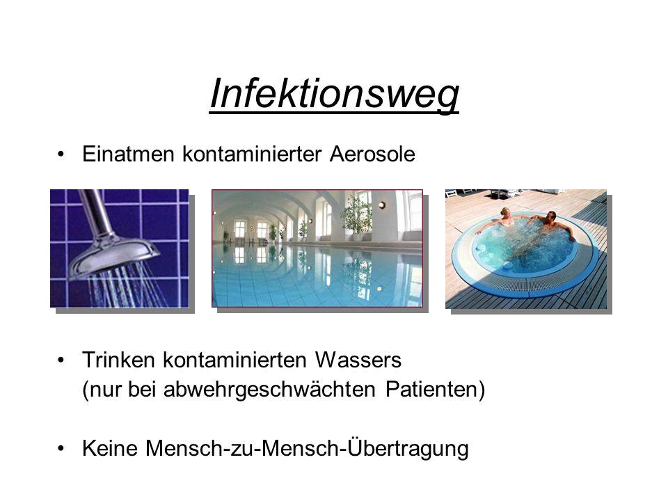 Infektionsweg Einatmen kontaminierter Aerosole