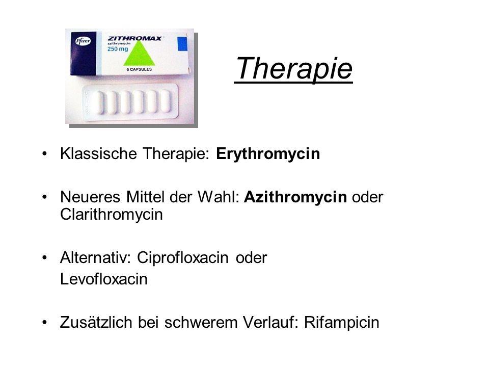Therapie Klassische Therapie: Erythromycin