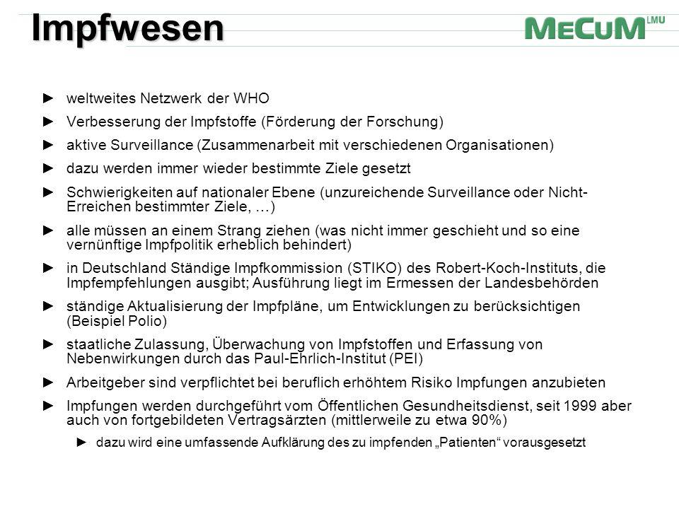 Impfwesen weltweites Netzwerk der WHO