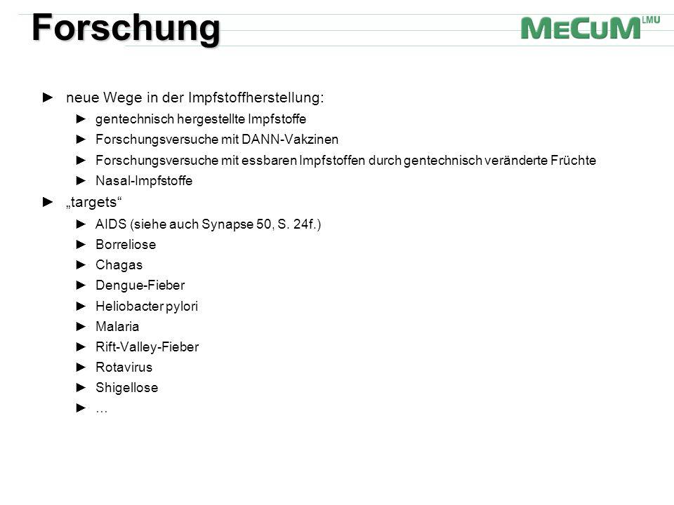 """Forschung neue Wege in der Impfstoffherstellung: """"targets"""