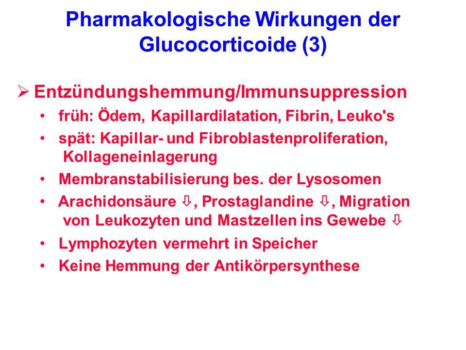 Pharmakologische Wirkungen der Glucocorticoide (3)