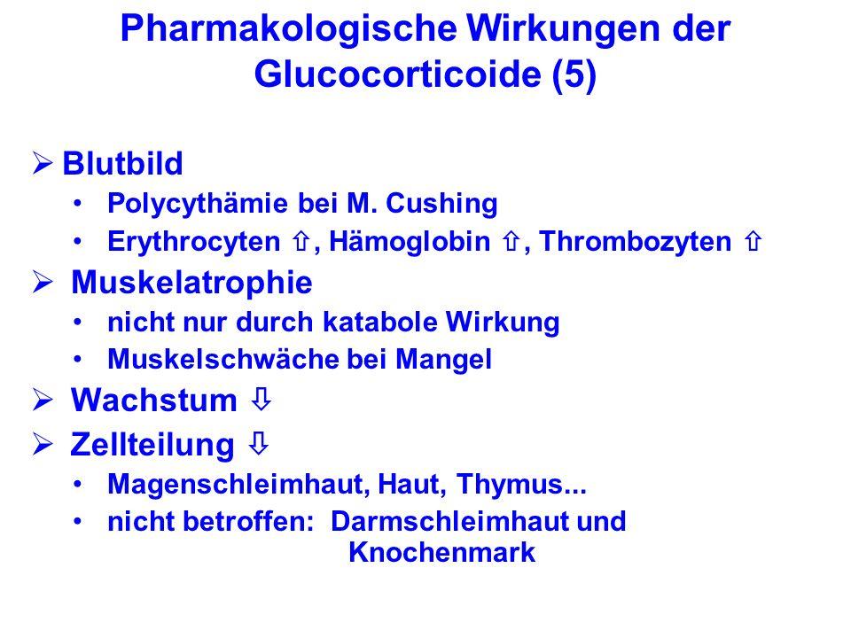 Pharmakologische Wirkungen der Glucocorticoide (5)