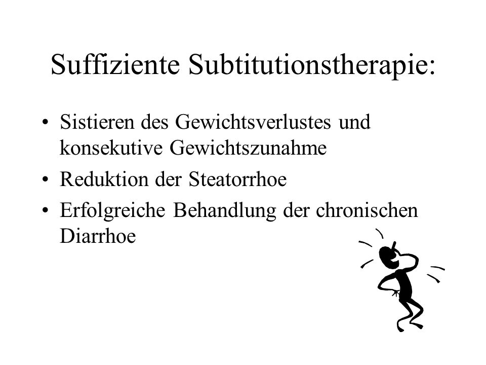 Suffiziente Subtitutionstherapie: