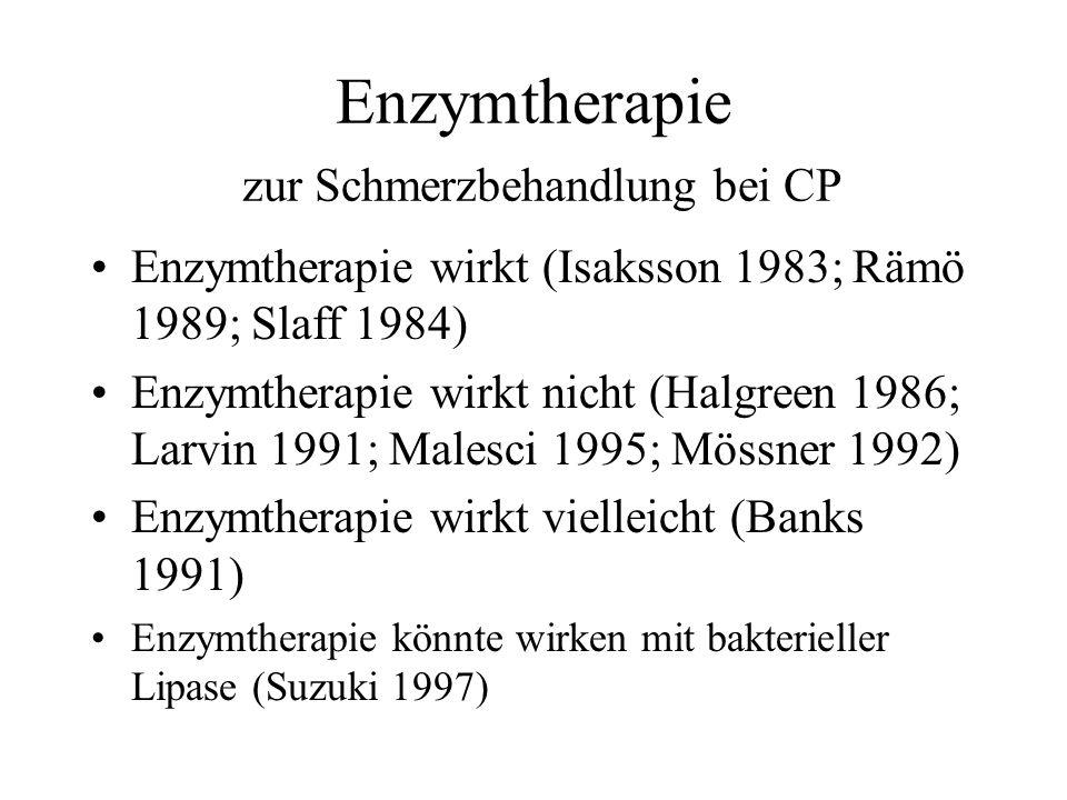 Enzymtherapie zur Schmerzbehandlung bei CP