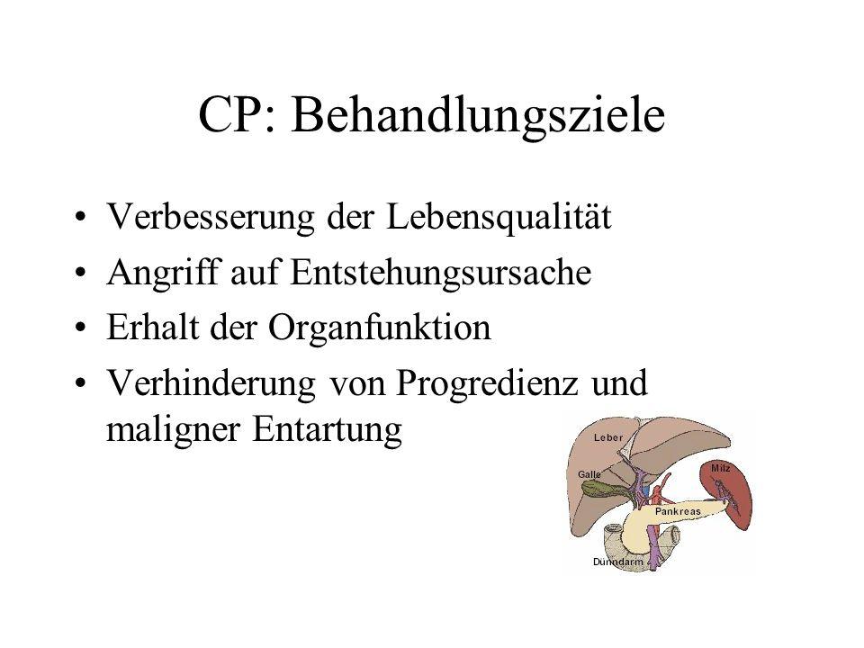 CP: Behandlungsziele Verbesserung der Lebensqualität