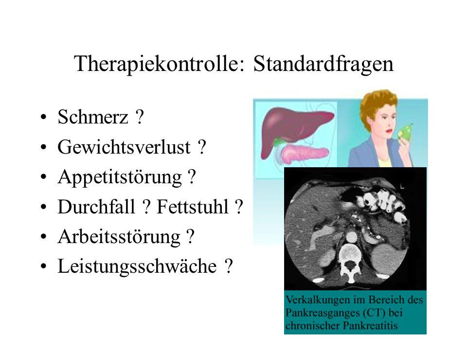 Therapiekontrolle: Standardfragen