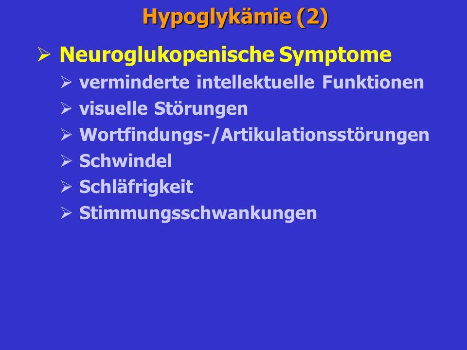 Neuroglukopenische Symptome