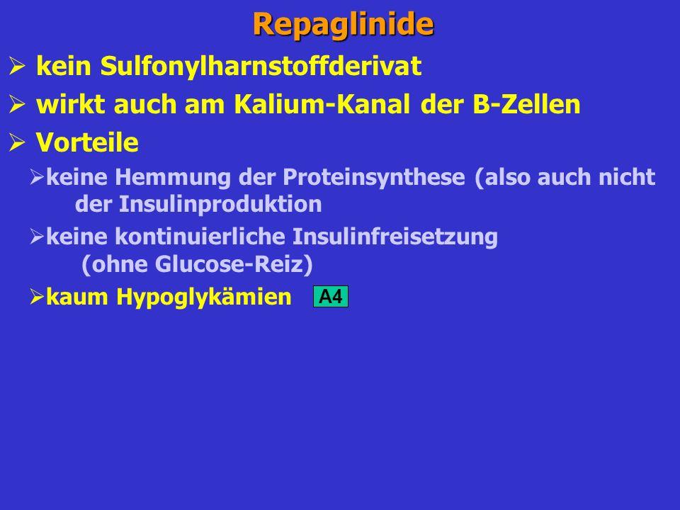 Repaglinide kein Sulfonylharnstoffderivat