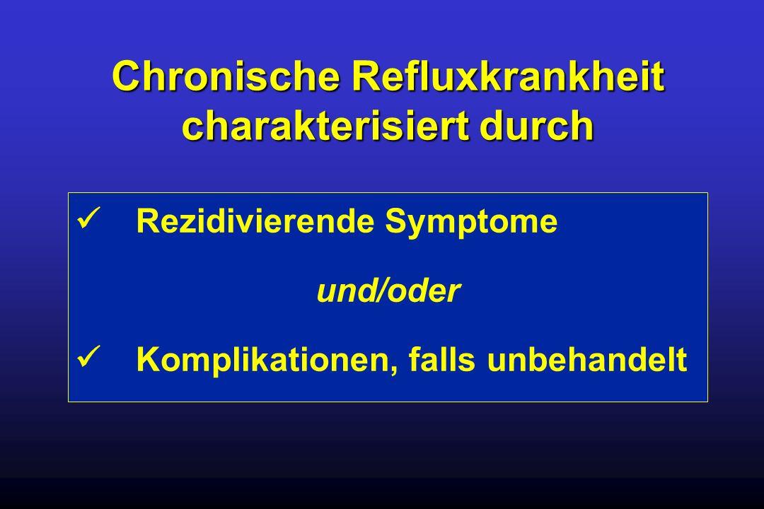 Chronische Refluxkrankheit charakterisiert durch