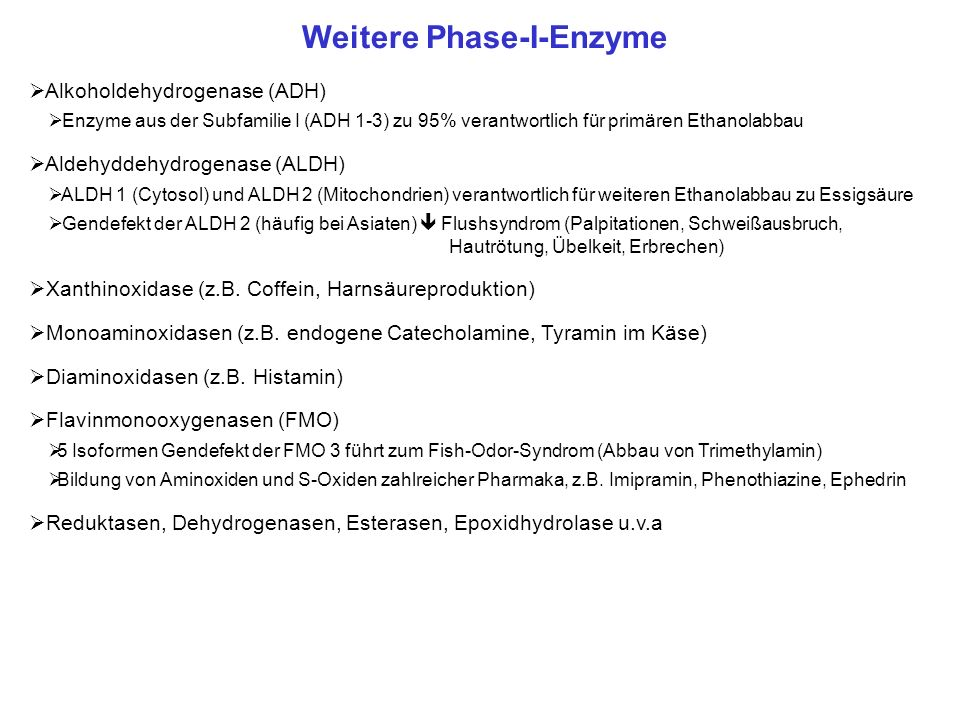 Weitere Phase-I-Enzyme