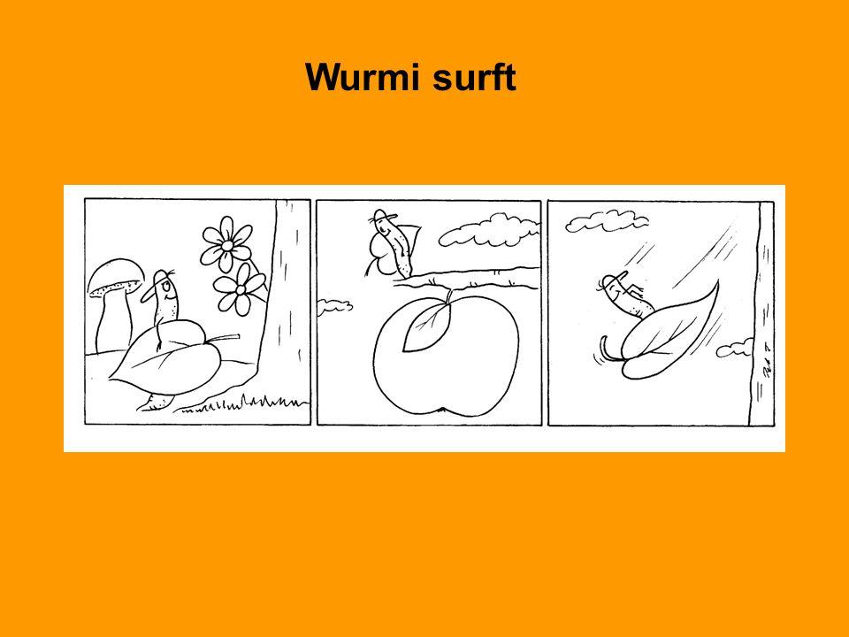 Wurmi surft