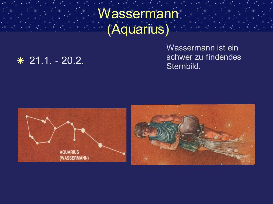 Wassermann (Aquarius)