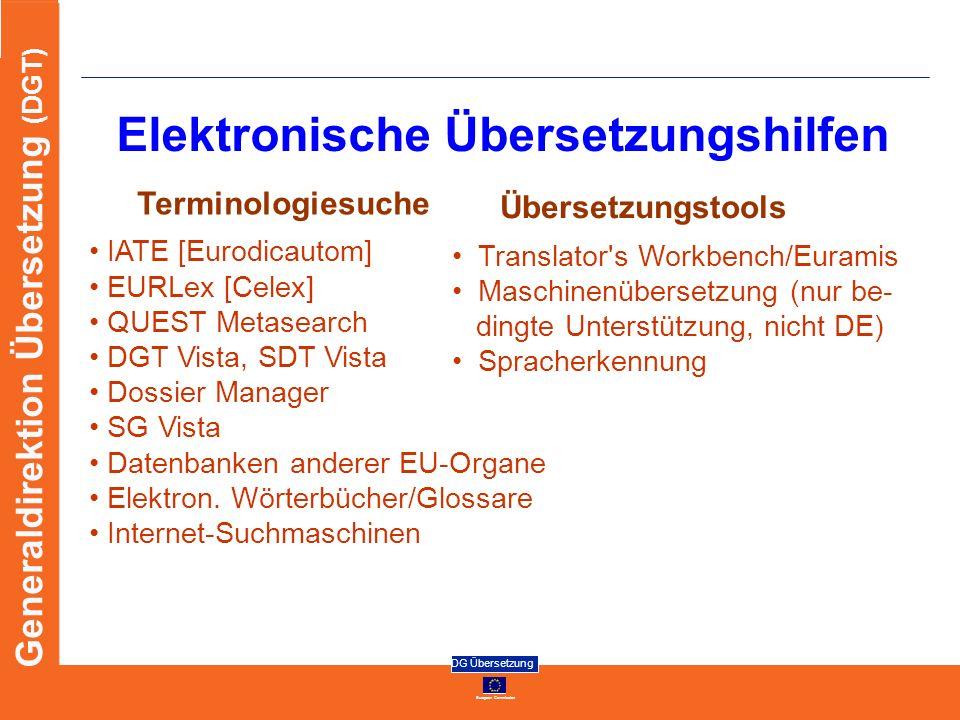 Elektronische Übersetzungshilfen
