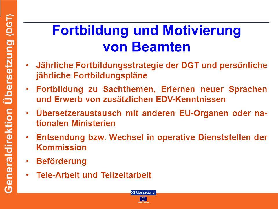Fortbildung und Motivierung von Beamten