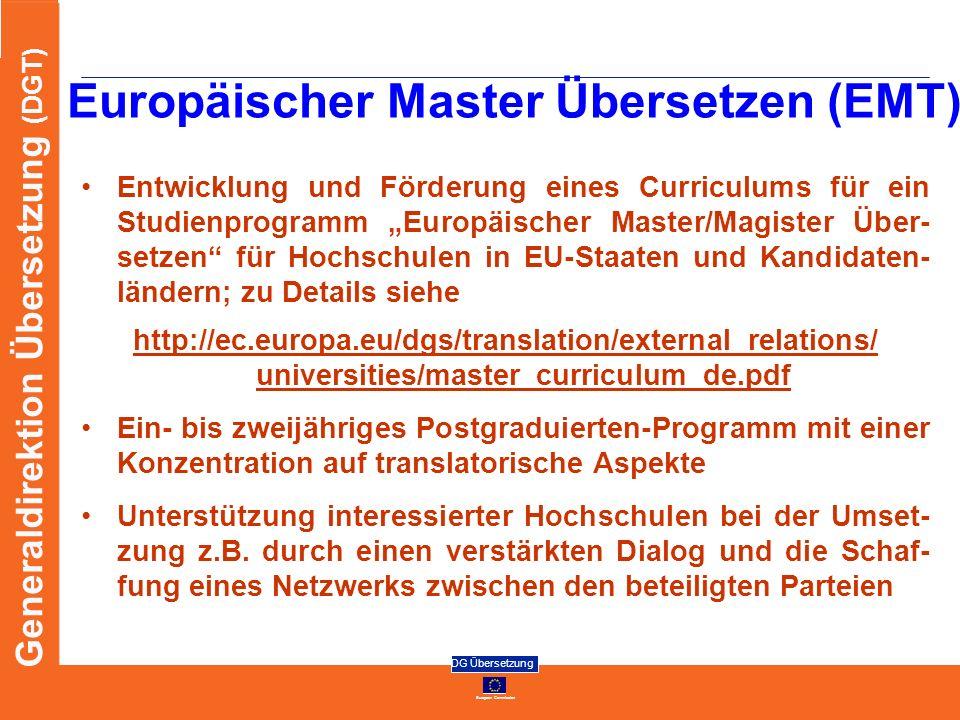 Europäischer Master Übersetzen (EMT)