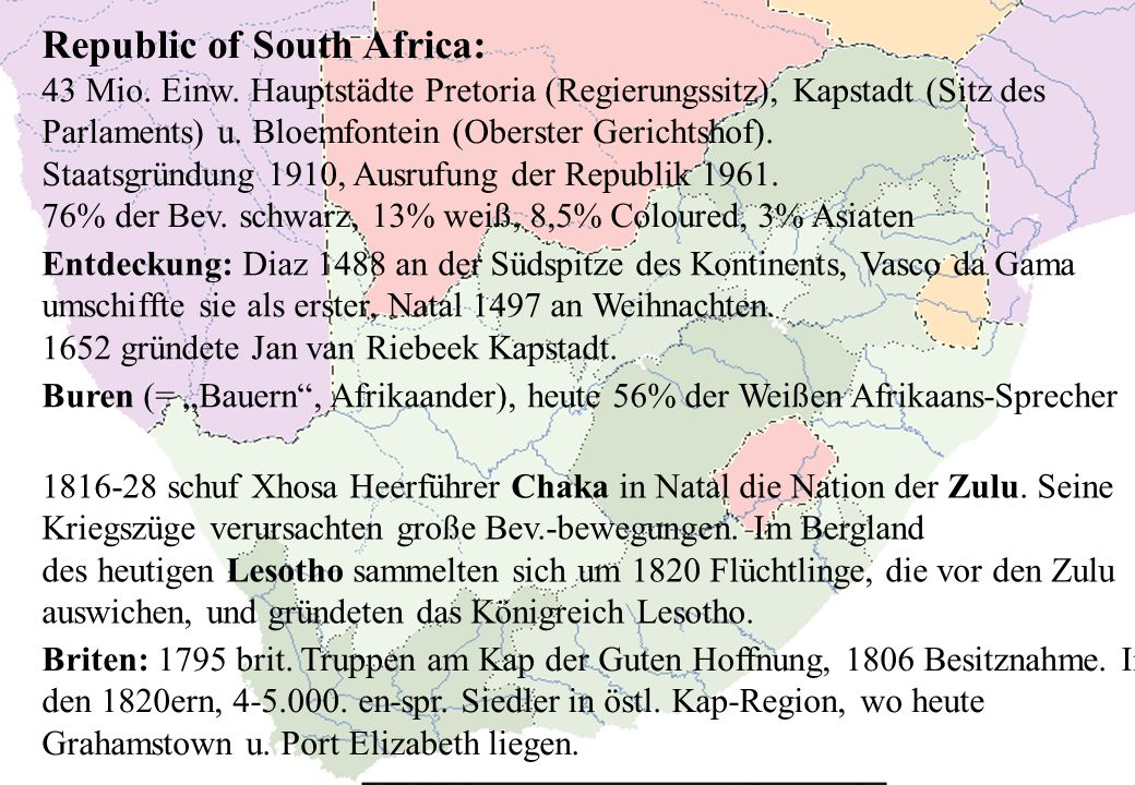 Republic of South Africa:
