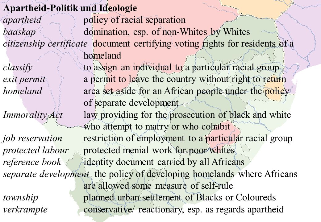 Apartheid-Politik und Ideologie