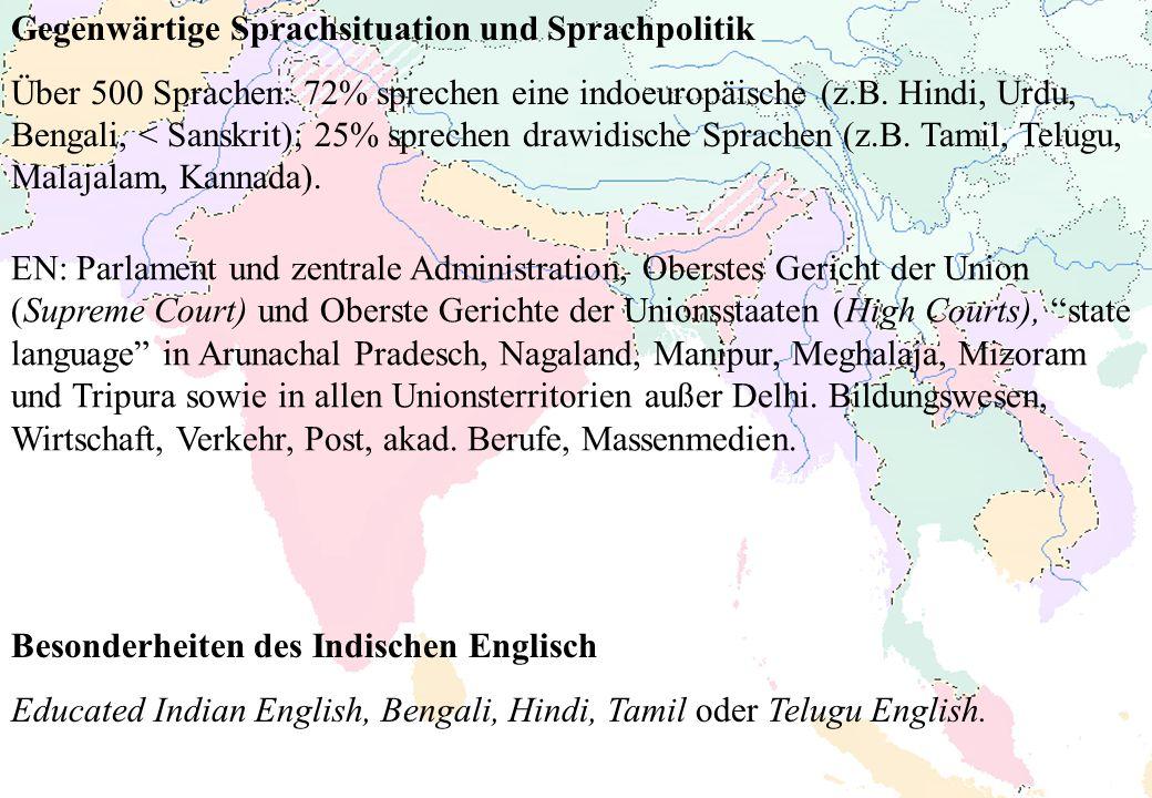 Gegenwärtige Sprachsituation und Sprachpolitik