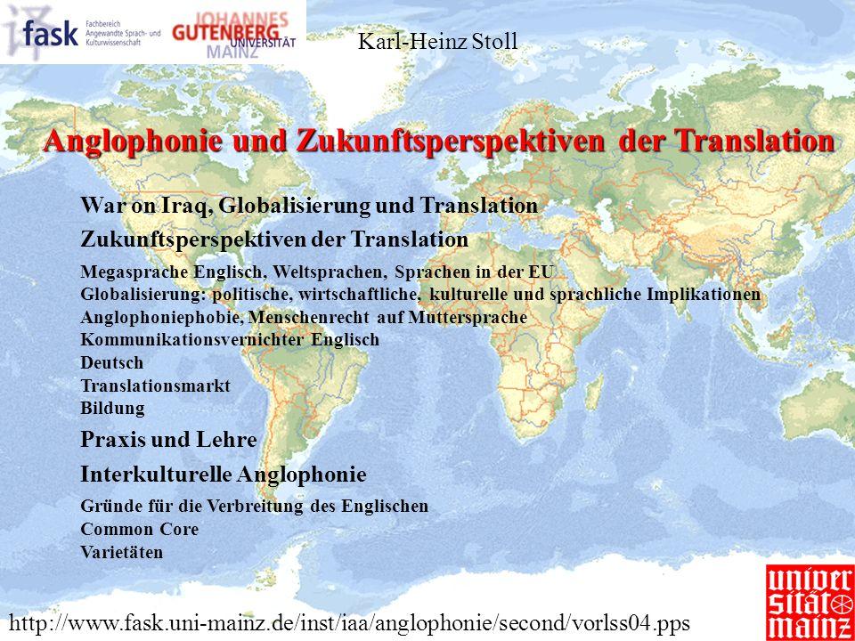 Anglophonie und Zukunftsperspektiven der Translation