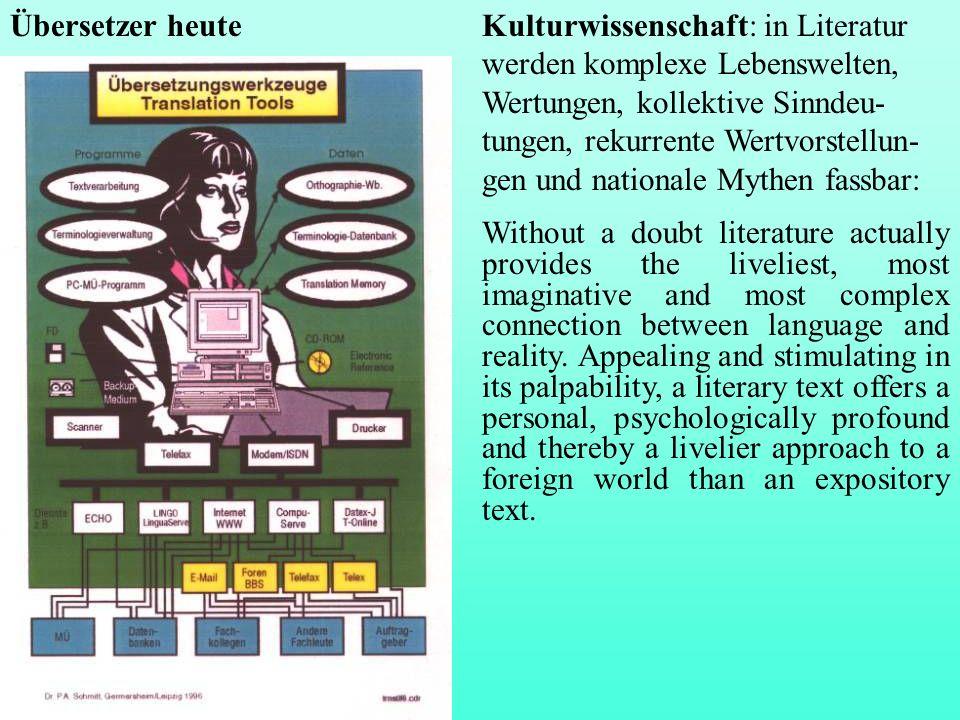 Übersetzer heute
