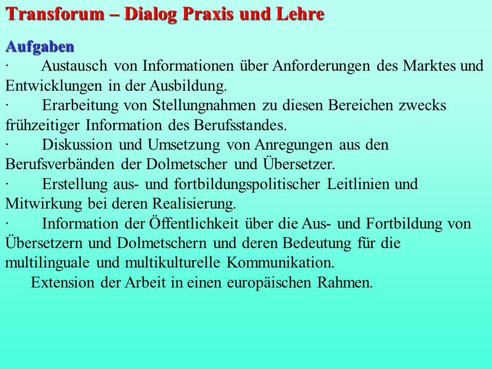 Transforum – Dialog Praxis und Lehre