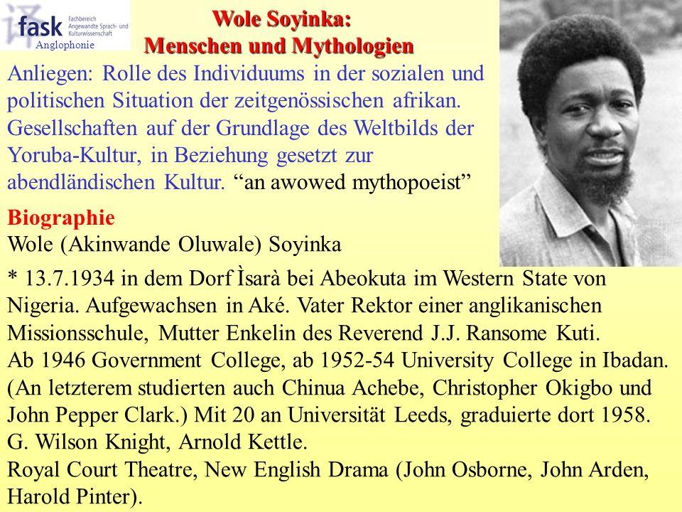 Wole (Akinwande Oluwale) Soyinka