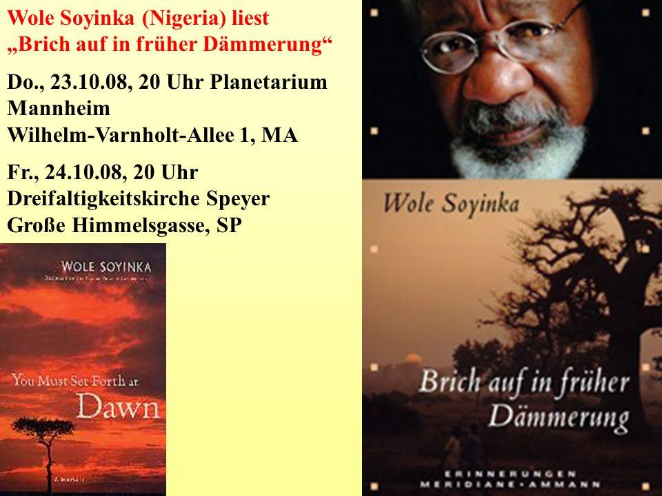 Wole Soyinka (Nigeria) liest