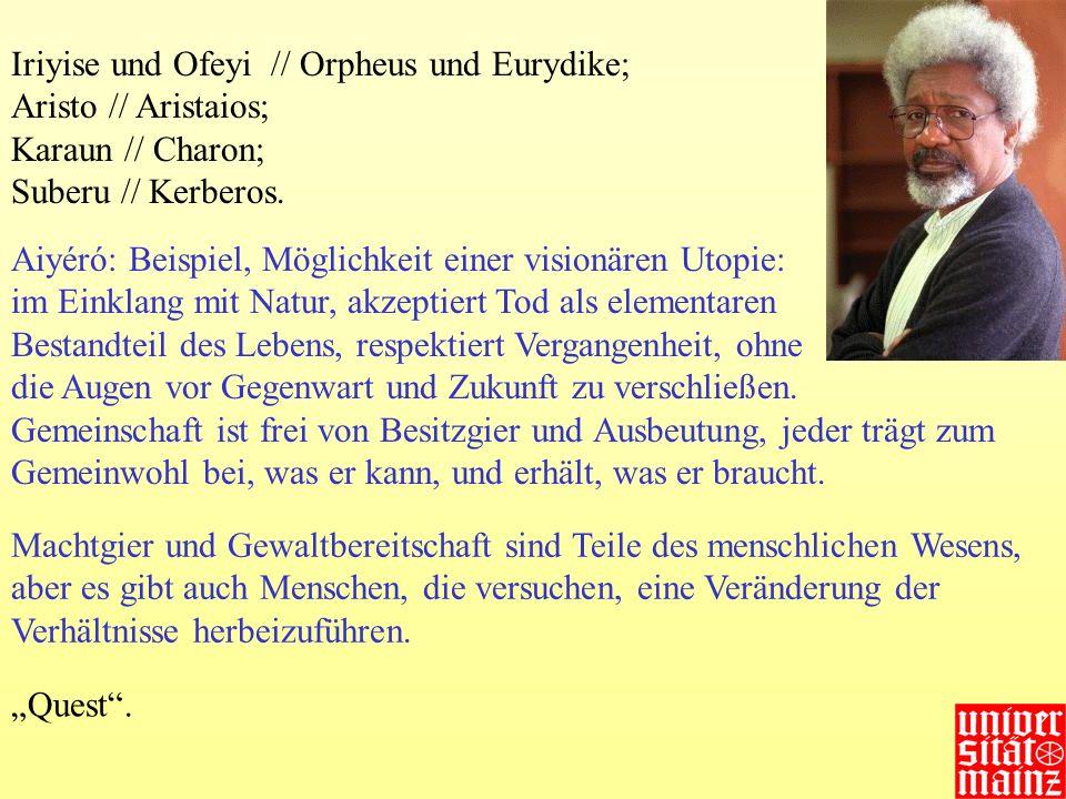 Iriyise und Ofeyi // Orpheus und Eurydike;