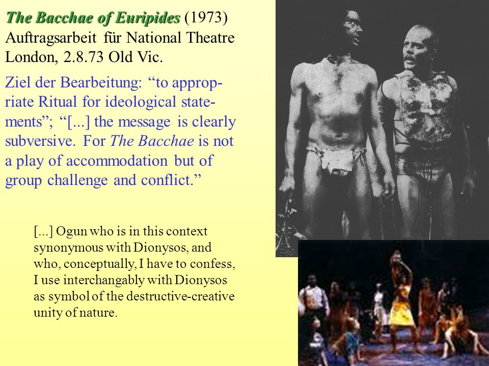 The Bacchae of Euripides (1973)