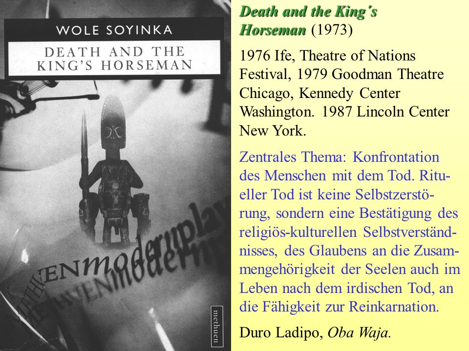 Death and the King´s Horseman (1973)