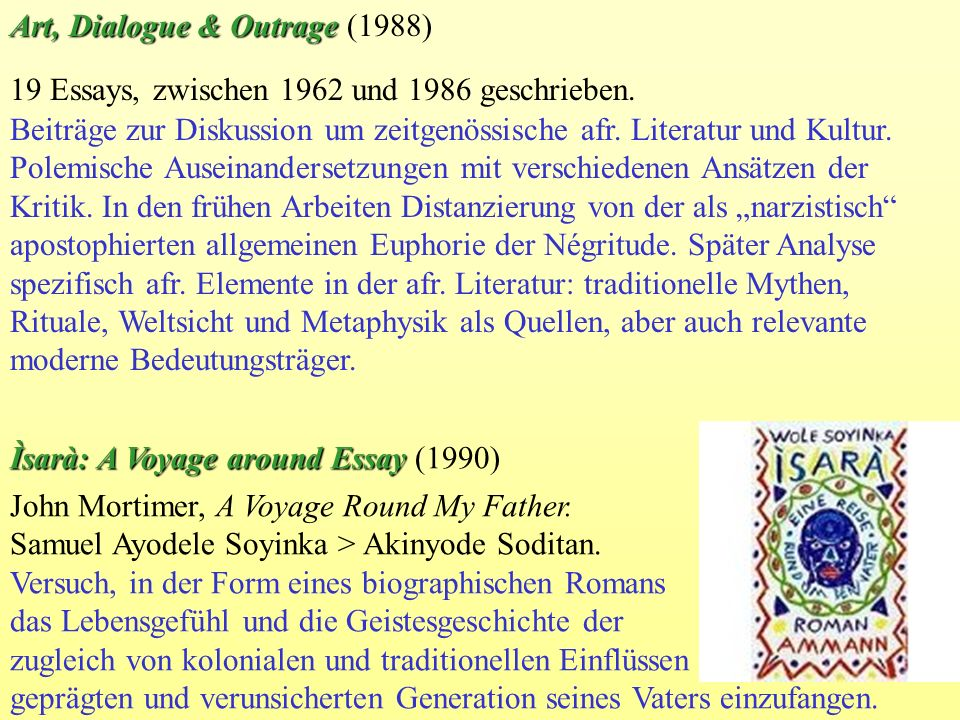 Art, Dialogue & Outrage (1988)