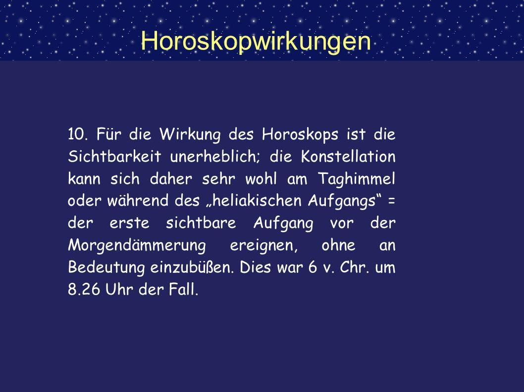 Horoskopwirkungen