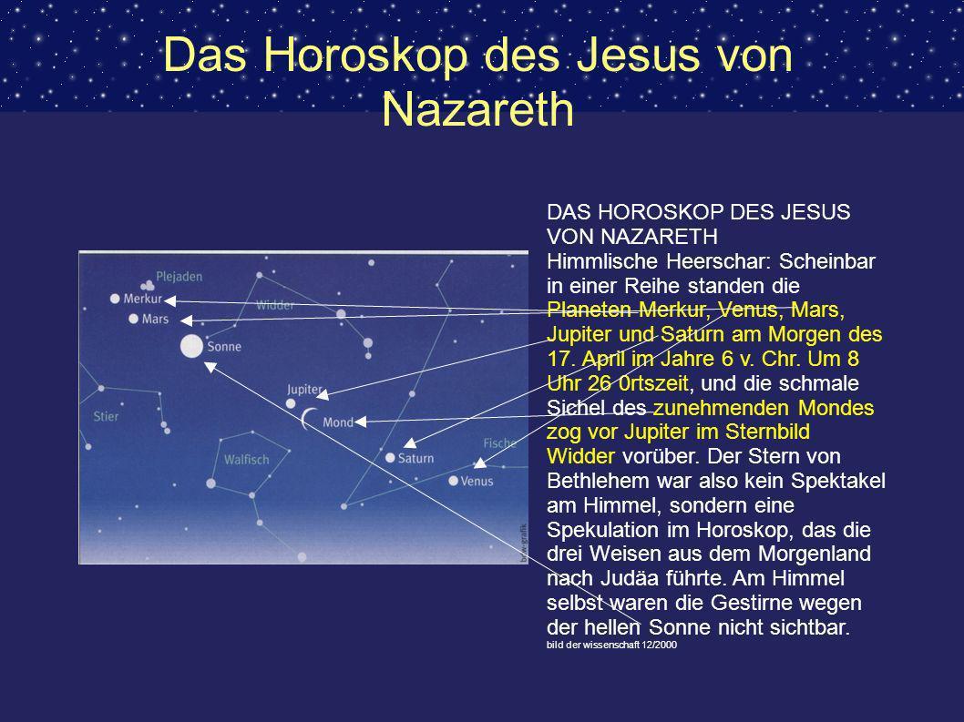 Das Horoskop des Jesus von Nazareth