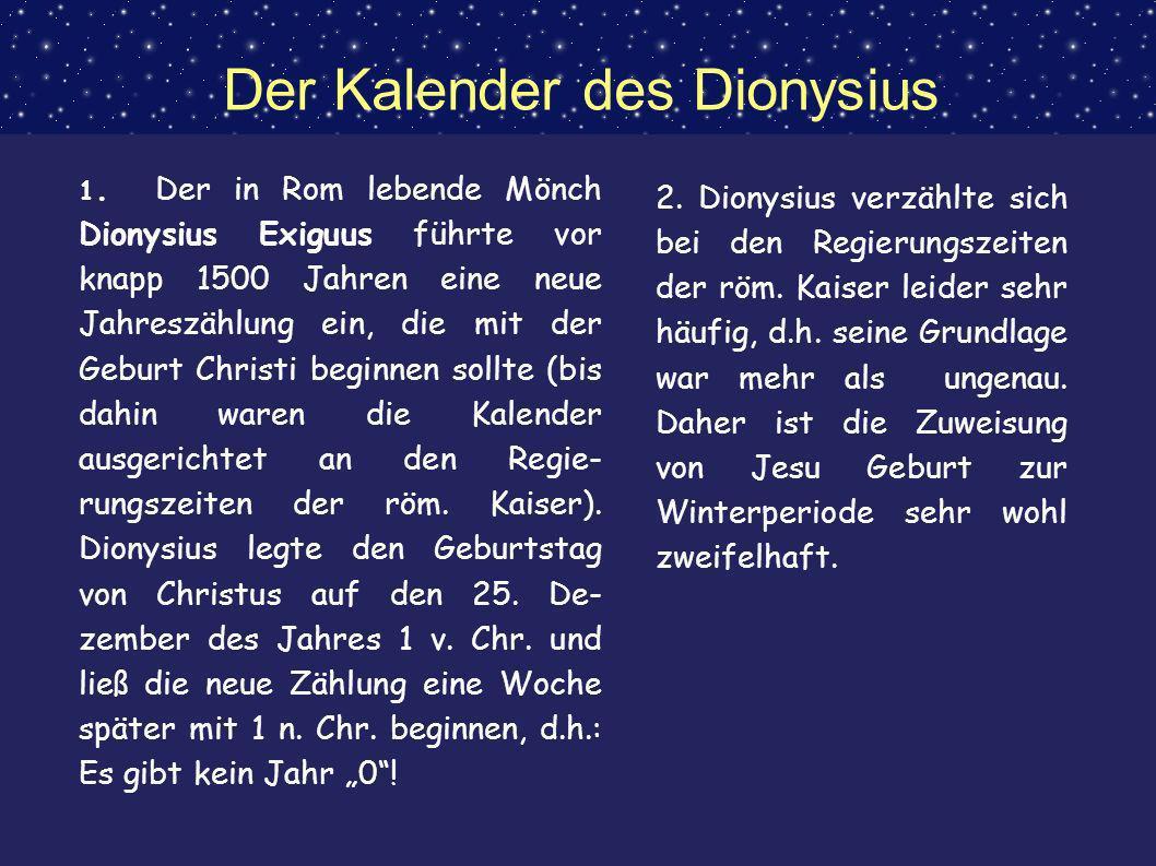 Der Kalender des Dionysius