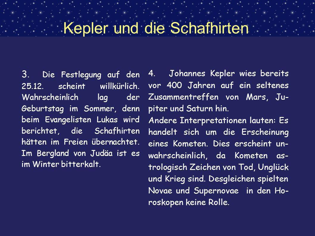 Kepler und die Schafhirten