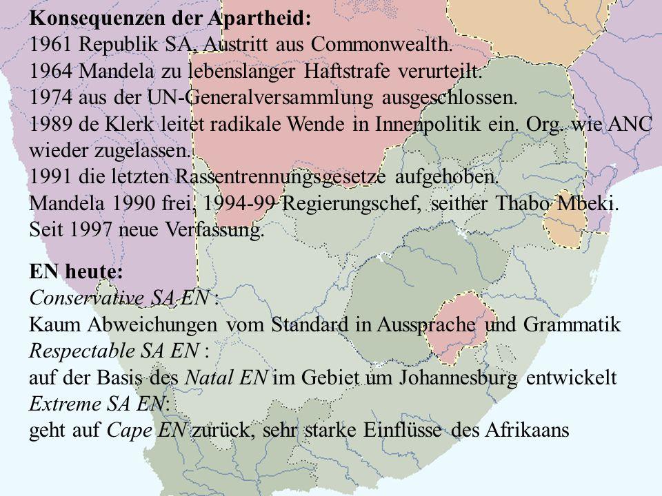 Konsequenzen der Apartheid: