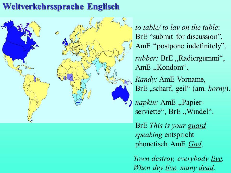 Weltverkehrssprache Englisch