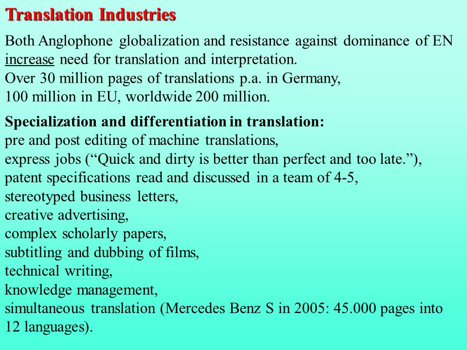 Translation Industries
