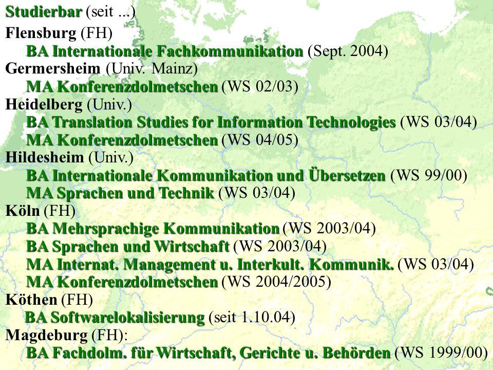BA Internationale Fachkommunikation (Sept. 2004)