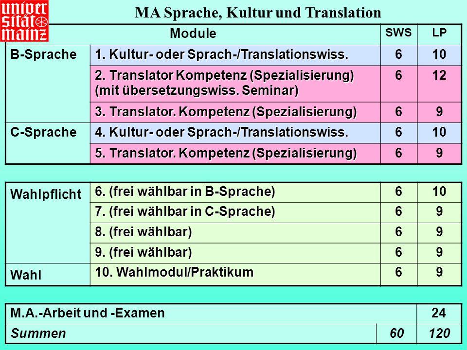MA Sprache, Kultur und Translation