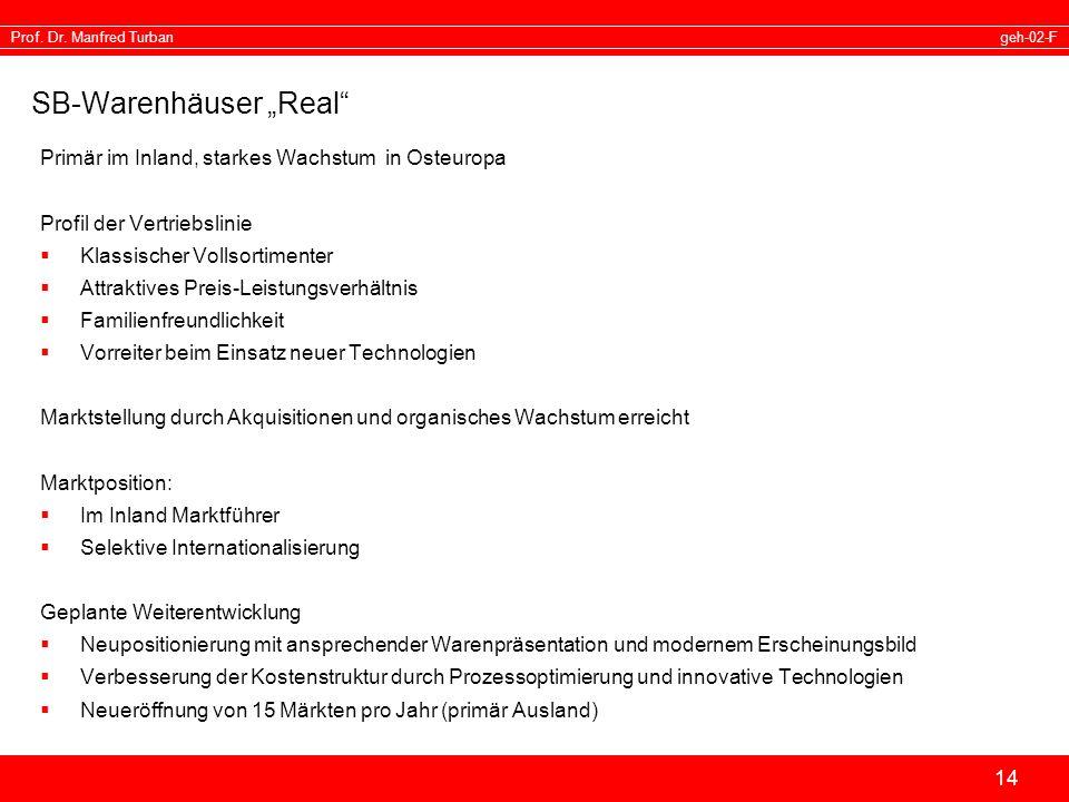 "SB-Warenhäuser ""Real"
