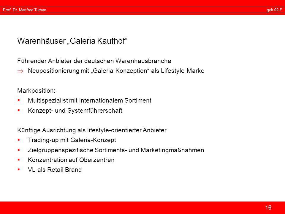 "Warenhäuser ""Galeria Kaufhof"