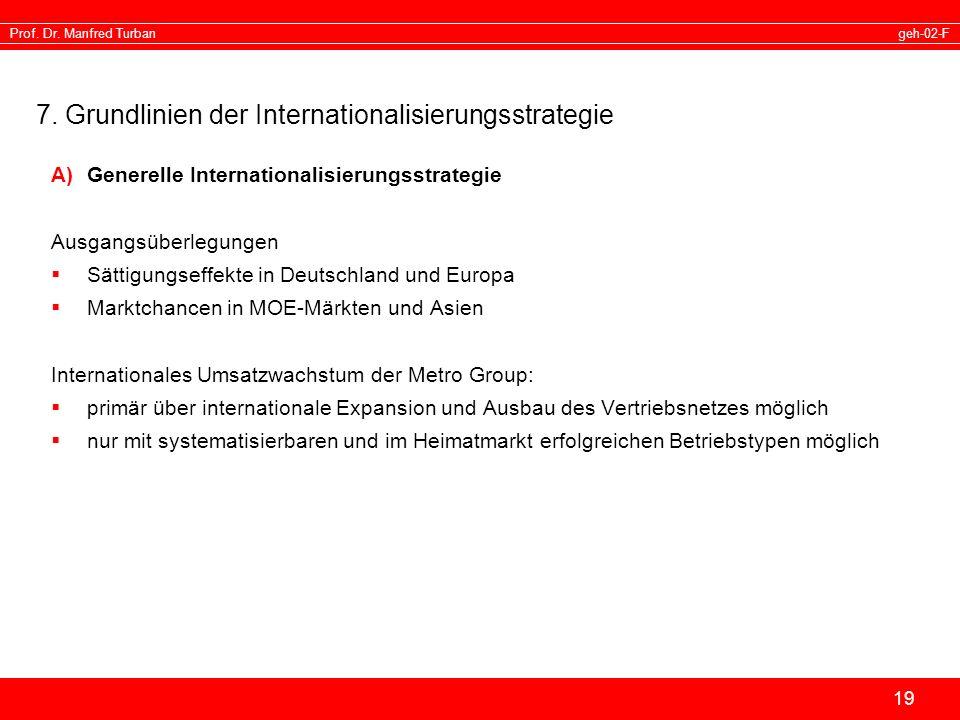 7. Grundlinien der Internationalisierungsstrategie