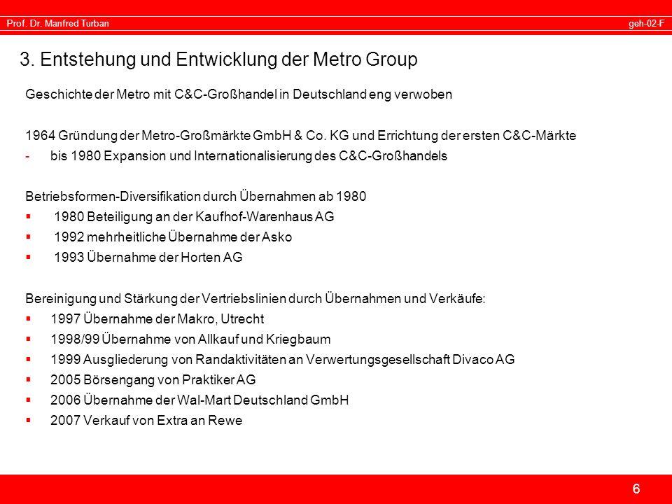 3. Entstehung und Entwicklung der Metro Group