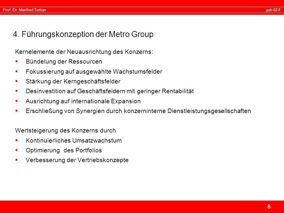 4. Führungskonzeption der Metro Group