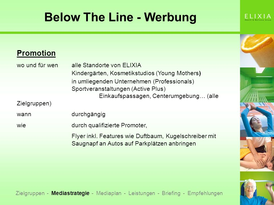 Below The Line - Werbung