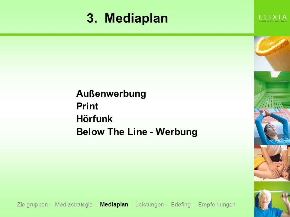 3. Mediaplan Außenwerbung Print Hörfunk Below The Line - Werbung